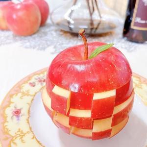 りんごジェンガで子供も私もハッピー