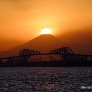 東京ゲートブリッジとダイヤモンド富士