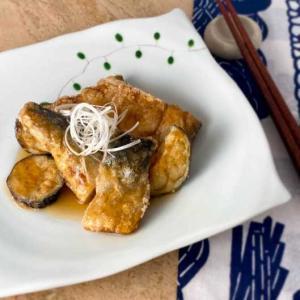 *秋に美味しい、さば竜田となすのあんかけ。 *山頂でワンバーナーレシピ♪ さば缶トマトパスタ。
