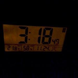 家のテントに使う時計 光センサーで自動点灯