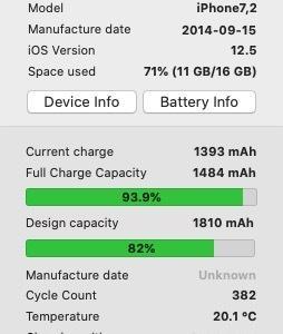 iPhoneのバッテリー3年目