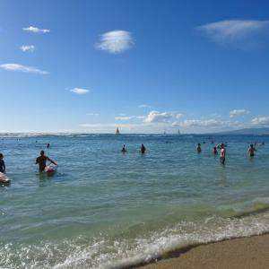 密すぎて諦めたハワイのビーチ