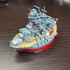 フジミ ちび丸艦隊 長門 素組フィニッシュ