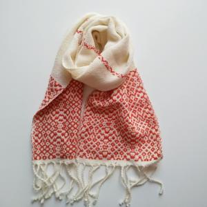 リクエストいただいた、模様織りのミニストール
