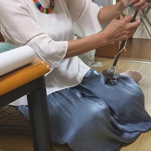 レッスン再開は5回で学べる糸紡ぎレッスンのお問い合わせが多いです