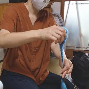ウールを使っての糸紡ぎレッスン