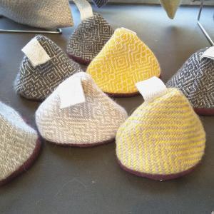 三角帽子の鍋つかみ、可愛くて使えちゃう優れものです(^^♪