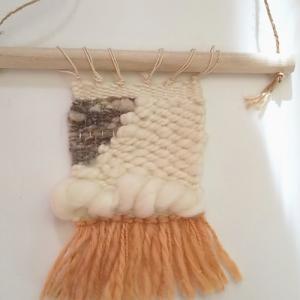 フワフワ糸で織りあげます!ワンデーレッスン  タペストリー織り
