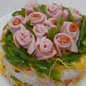 2年ぶりの薔薇の雛ちらし寿司♪フルグラントピンクが桃の花代わり&何時まで続くの⁉厳戒態勢