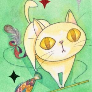 金目の白猫☆遊びのおねだり