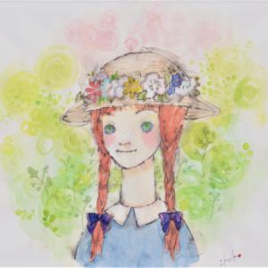 赤毛のアン☆花飾りの帽子