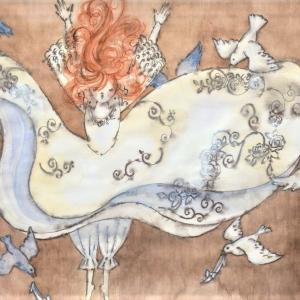 グリム童話「灰かぶり」☆舞踏会のドレスが降ってきた