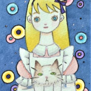 アリスと猫☆ピンクの服のアリス