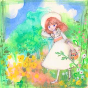 秘密の花園☆メアリーお嬢様 下描き無しで描いたイラストです。