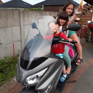 バイクと冷やし中華