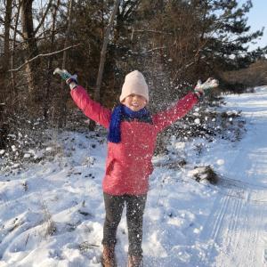 マイナス12℃で雪遊び