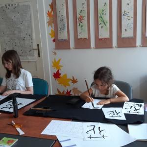 夏の日本の授業