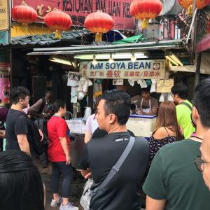 KL中華街(ペタリングストリート)で豆乳と豆腐花 @ Kim Soya Bean
