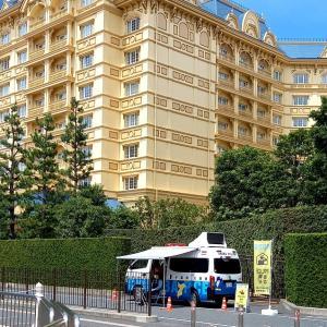 """""""移動交番"""" ディズニーランドホテル前にて・・"""