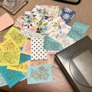切手コラージュみたいなカード