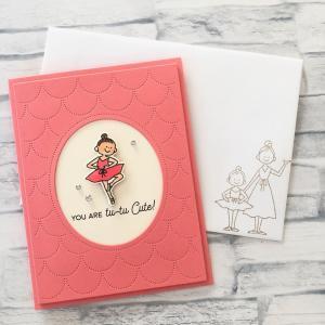 バレリーナデザインのカード