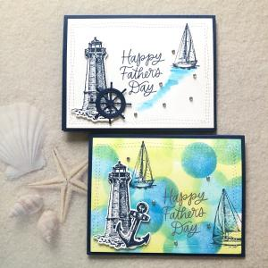 海デザインの父の日カード
