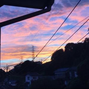 2019.9.7朝焼けと夕焼けが凄かったですね?!