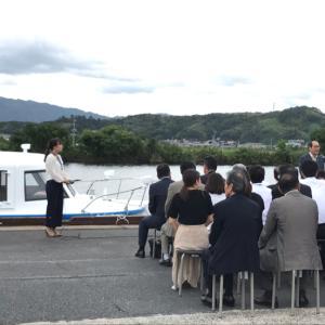 これは!宍道湖遊覧船の新船。