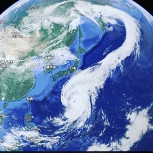 2019.10.13 首長竜のように進んだ台風19号でした。