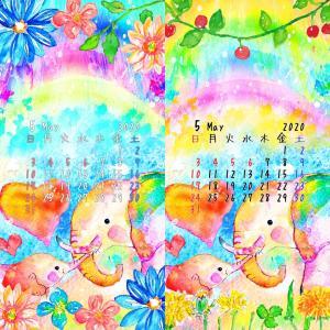 5月になりました。カレンダー入り壁紙
