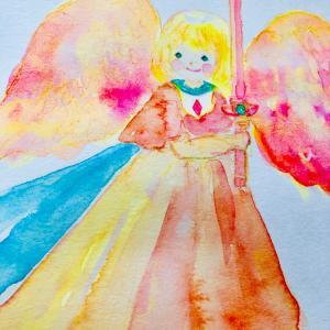 天使のファブリックパネル制作