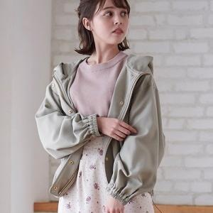 ぽよんとしたお袖が可愛いブルゾン♪フード付きでカジュアルな着こなしにも◎
