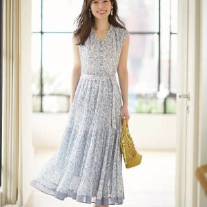 美人百花7月号で泉里香さんが着用して大人気の洗えるワンピース♪