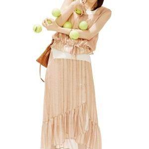 西野七瀬さん風♡セットアップで今っぽフェミニンな夏コーデ♪