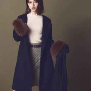 山本舞香さんがリランドチュールの秋の新作アイテムを、 可愛く着用しています!