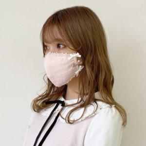 ロディスポットのマスク♡レースとリボンで可愛い♡