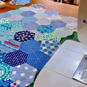 六角形をミシンで縫う