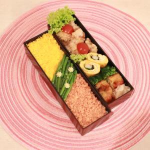 唐揚げと三色お弁当~可愛いサンダルとライトアップ