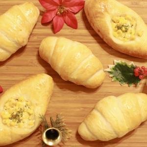 たっぷりコーン入りパンとバターロール~紅葉が見られた