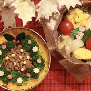 クリスマスリース風お弁当~丸の内イルミ