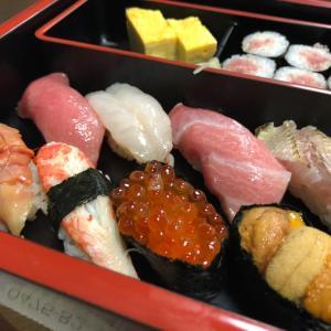 昨日の晩御飯♪テイクアウトお寿司♡