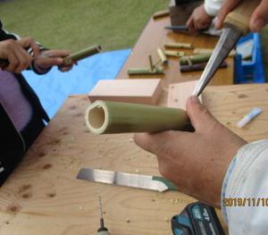 竹笛づくり