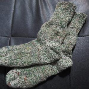 手編みの靴下132足目、完成。 ハンドメイド・ニット・ソックス、編み物。