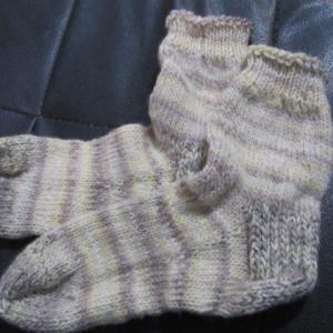 手編みの靴下134足目、完成。 ハンドメイド・ニット・ソックス、編み物。