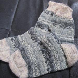 手編みの靴下137足目、完成。 ハンドメイド・ニット・ソックス、編み物。