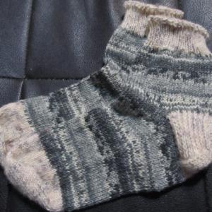 手編みの靴下138足目、完成。 ハンドメイド・ニット・ソックス、編み物。