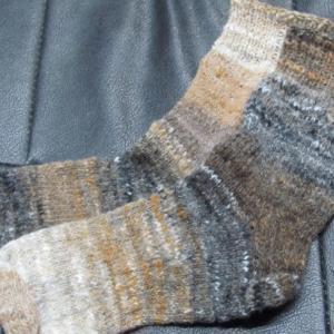 手編みの靴下142足目、完成。 ハンドメイド・ニット・ソックス、編み物。