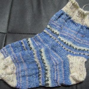 手編みの靴下126足目、完成。 ハンドメイド・ニット・ソックス、編み物。