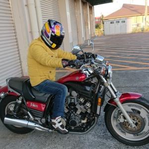 丁寧に乗らせて頂きながら高速走行等の実走行のテストもする当社のバイク車検!イタリアの名車の次はマッチョなV-MAX!!