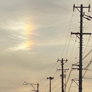自分では絶対に綺麗だと思えない本日の夕方に現れた晴れの日に出た不思議な虹!その理由は簡単・・・・・
